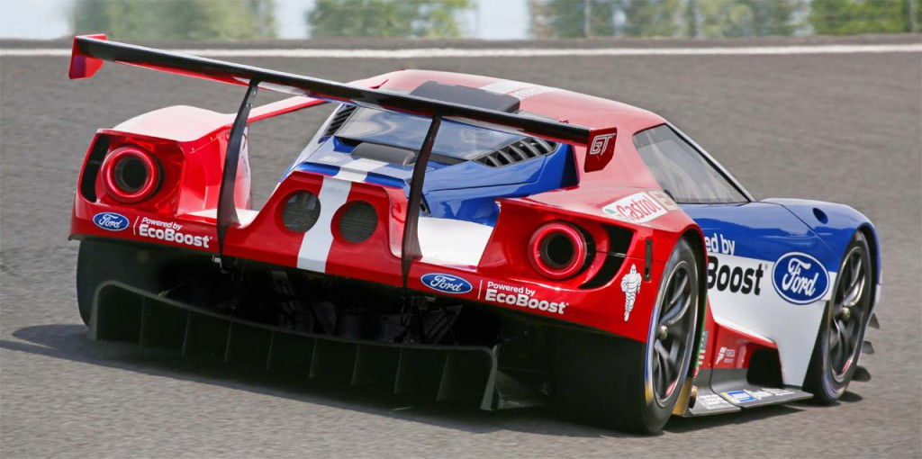 ford gt racecar rear