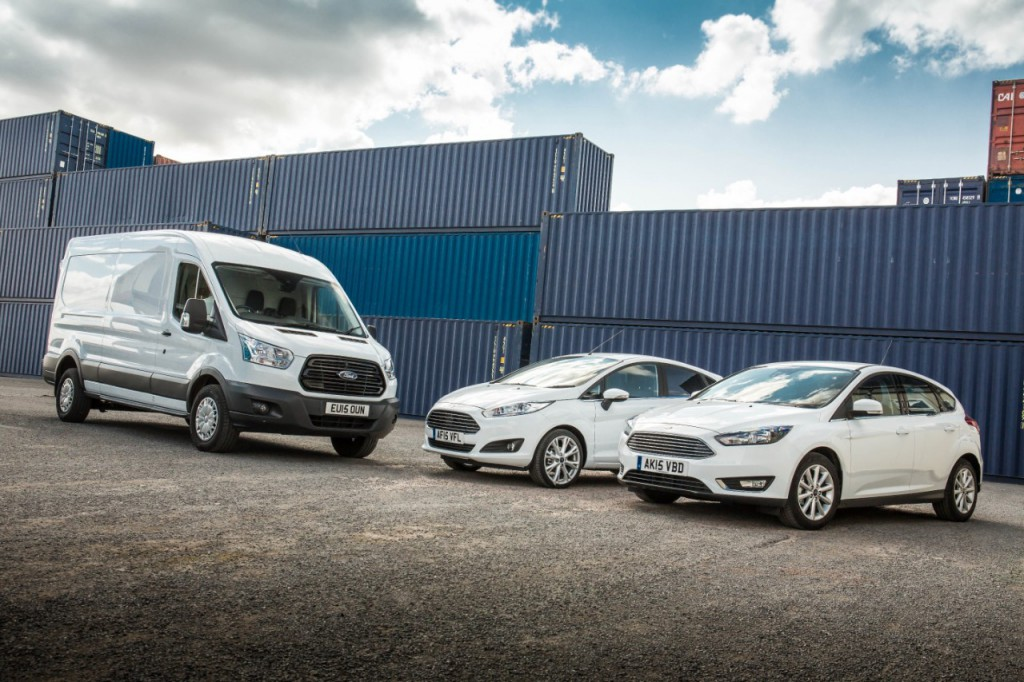 Ford Fiesta, Ford Focus and Ford Transit range top UK total vehicle sales