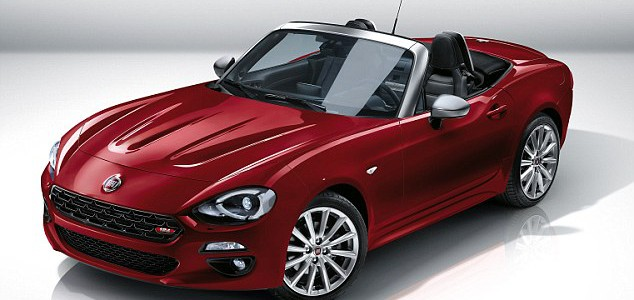 Fiat reveals its 124 Spider based on the Mazda MX-5 with an Italian engine