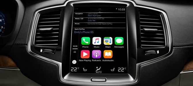 ENHANCED IN-CAR CONNECTIVITY FOR VOLVO XC90 WITH LAUNCH OF APPLE CARPLAY