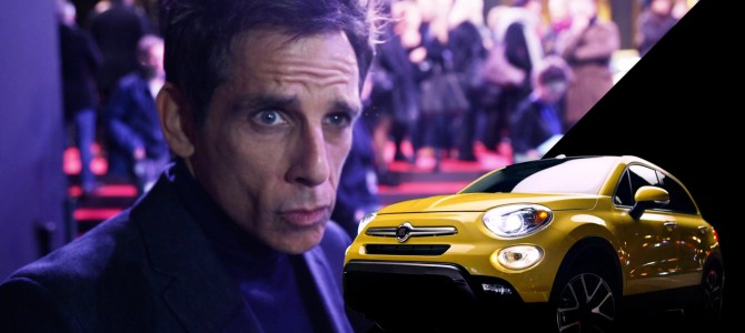 DEREK ZOOLANDER RETURNS TO THE BIG SCREEN IN A FIAT 500X