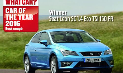 The SEAT Leon SC FR 1.4 EcoTSI 150 PS has been awarded Coupe Of The Year priced under £25k by What Car?