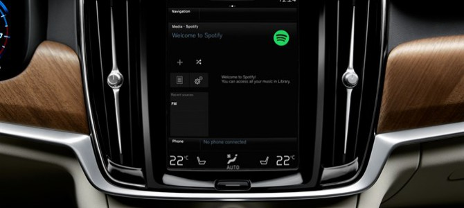 Volvo Cars reveals global integration of Spotify streaming music service in new models