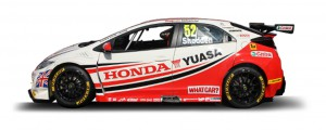 The Yuasa team car in last season's livery