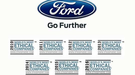 Ford: One of the world's most ethical companies.
