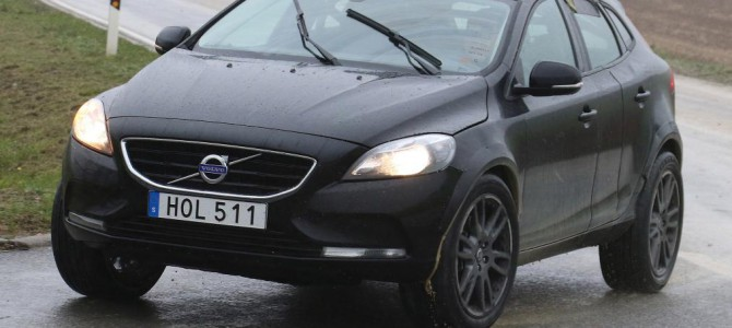 Sneak Preview of Volvo's forthcoming XC40 Small Crossover/SUV on the Test Track
