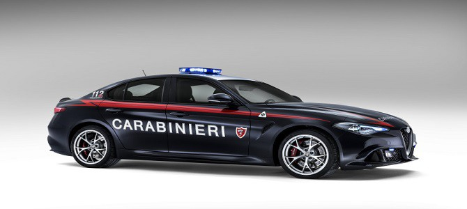The Italian police have bought some Alfa Romeo Giulias