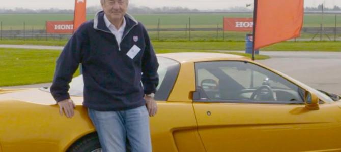 Pink Floyd Nick Mason take a Honda super car for a spin