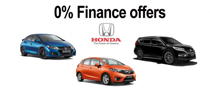 0% Finance deals: Honda
