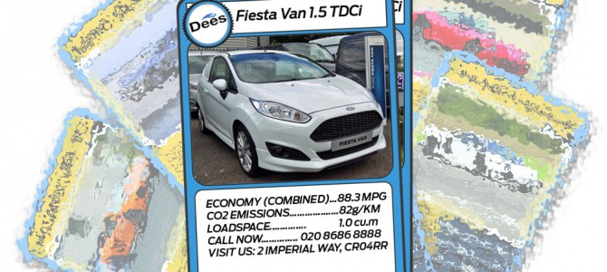 Dee of Croydon Transit Centre Top Trumps: Ford Fiesta Van