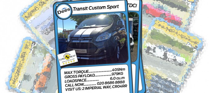 Dee of Croydon Transit Centre Top Trumps: Ford Transit Custom Sport