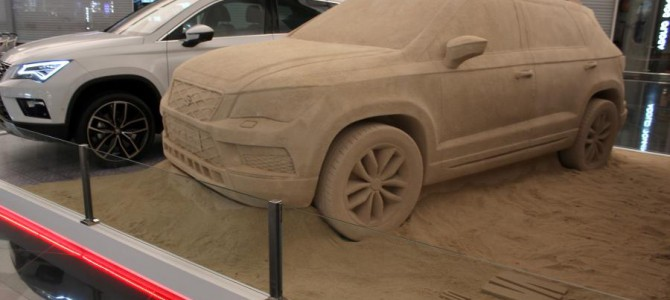 SEAT bring sand to Barcelona Airport