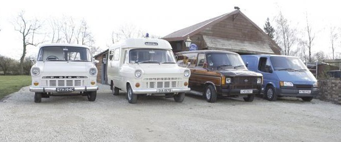 The UKs largest Ford Transit model van collection.