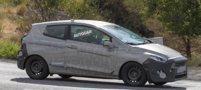 New 3 door Fiesta spotted testing