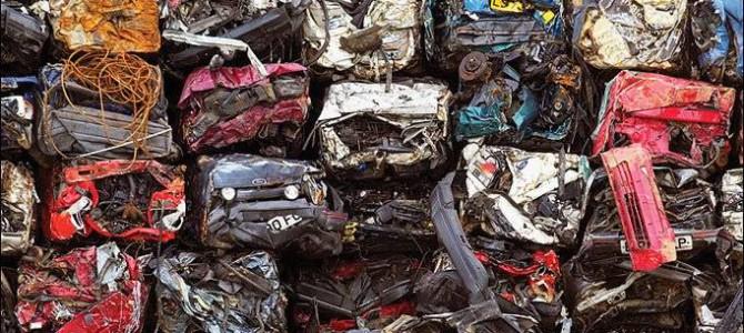 Classic Ford Capri Crushed