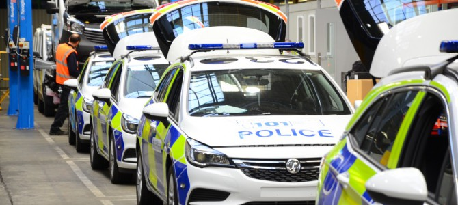 Vauxhall 'Police Car Factory' Gets the Blue Light