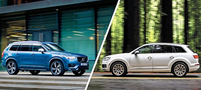 Volvo XC90 and the Audi Q7 go head-to-head