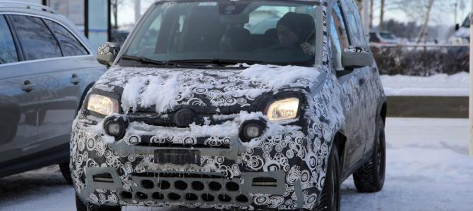 Fiat Panda Facelift Model Spotted on Test